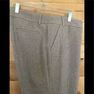 J. Crew Herringbone wool trousers